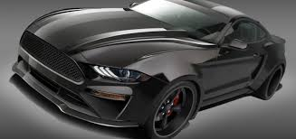 mustang designs deberti designs a sinister mustang sema 2017 ford athority