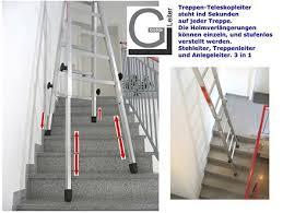 leiter f r treppe teleskopleiter treppenleiter und treppenhausleiter eine leiter