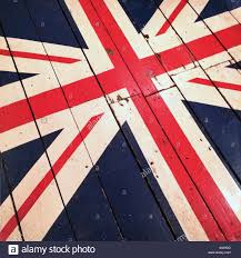British Flag Ww1 Great Britain Flag Painted On Old Weathered Wood As An Old Vintage