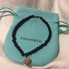 tiffany bracelet review images Tiffany co black silver onyx bead rtt heart tag bracelet tradesy jpg