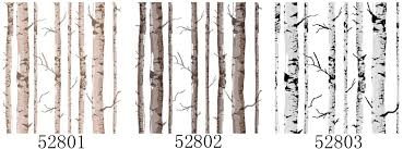 black white birch tree wallpaper vinyl bedroom living room
