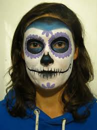 Skeleton Face Paint For Halloween by Sugar Skull Face Paint Tutorial Coochiecrunch