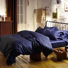 100 egyptian cotton 60s satin bed linens royal dark blue duvet