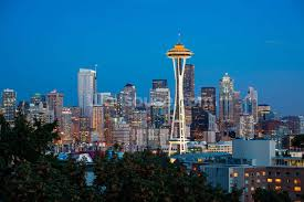 seattle skyline wallpaper wall mural wallsauce usa save your design for later