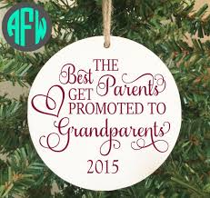 grandparent ornament pregnancy announcement