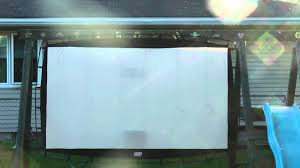 review camp chef outdoor movie screen os115 youtube