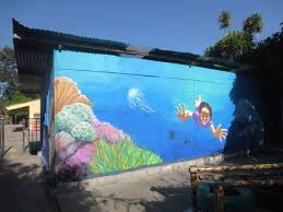 muralarte guate murals ocean scene at 3 outdoor walls of the kindergarten at the san bartolome becerra public school antigua guatemala sponsored by debby pate brooke campbell