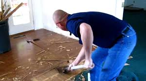 Diy Laminate Flooring On Concrete Laminate Floor Removal Youtube