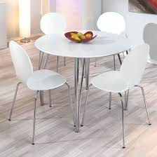 White Dining Table With Black Chairs White Dining Table And Chairs Kitchen Table And Chairs