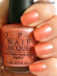 opi melon of troy current favorite ohh la la nails pinterest