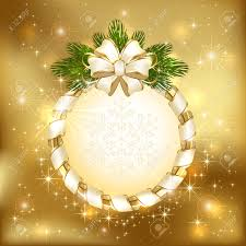 stock vector of magnificent gold christmas wreath with bows spheres