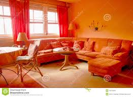 orange livingroom orange living room royalty free stock images image 18133359