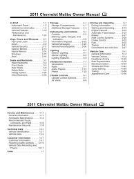 2011 chevrolet malibu owners manual english tire manual