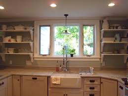open shelves in kitchen dust marble counter top wood stained