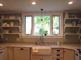 rustic open shelves in kitchen metal chrome shelf ball linen