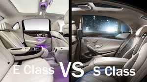 2017 2018 mercedes s class vs e class notice any difference