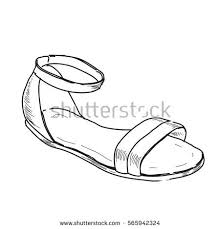 vector hand drawn illustration woman shoe stock vector 576911443