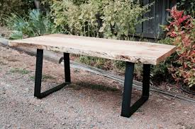 live edge table west elm live edge wood furniture custommade com calypso home raw coffee