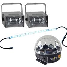 mini led light strips party light pack with led strip light derby effect u0026 strobes