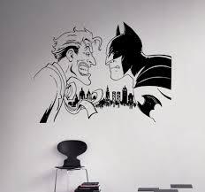 online get cheap custom wall decal aliexpress com alibaba group new arrival batman vs joker wall decal comics superhero vinyl sticker custom decals home decor removable decor wall art