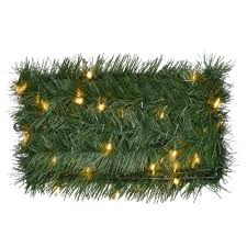 home accents 36 ft pre lit roping garland with 100 clear