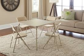 amazon com cosco 5 piece folding table and chair set tan