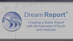 dream report batch demo for wonderware youtube