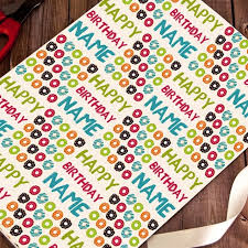 donut wrapping paper donut happy birthday wrapping paper printster