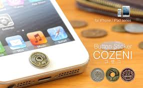 Iphone Home Button Decoration Touch Me Phone Home Push Button Sticker Decoration Japanese Coin