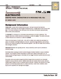 electrolysis worksheet free worksheets library download and