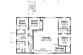 Garage Plans With Storage by Ranch House Plans Garage W Apartment 20 183 Associated Designs