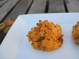 thanksgiving side dish bacon and chive sweet potato biscuits
