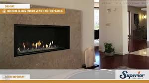 superior drl4543 direct vent linear gas fireplace youtube