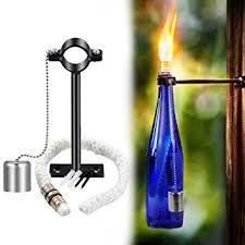 Home Decor Glass Amazon Com Lanmu Wine Bottle Tiki Torch Bottle Torch Diy Home