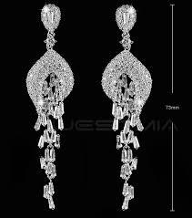 wedding earrings chandelier 2018 fashion women earrings rhinestone jewelry bridal