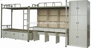 Multifunctional School Furniture Triple Bunk Bedwood And Steel - Triple bunk bed wooden