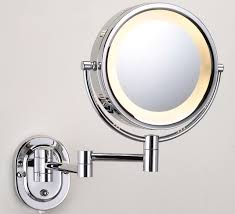 hardwired lighted makeup mirror 10x wall mount makeup mirror led home design ideas