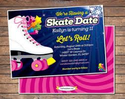 diy printable skating party invitation zebra print skate
