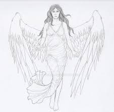 guardian angel tattoo lines by fat turkey on deviantart
