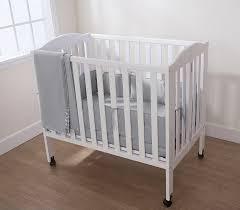 Portable Mini Crib Bedding by Amazon Com American Baby Company Cotton Percale Mini Crib Bumper