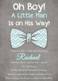 bow tie baby shower invitations a little man is on the way