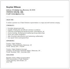 Public Relations Resumes Pr Resume Objective 3 This Public Relations Resume Example