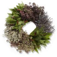 herb wreath culinary herb braid sur la table