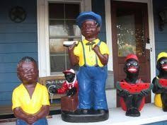 black watermelon boy statue midnite blue model lawn jockey cousin