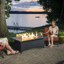 rectangle propane fire pit table top 15 types of propane patio fire pits with table buying guide