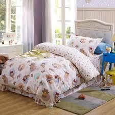 100 Cotton Queen Comforter Sets Kids Cute Cartoon 100 Cotton Bedding Set With Rabbit Bear