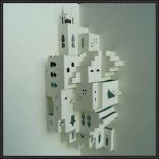 relief sculpture escher phantasy pop up free template download