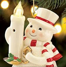 lenox out the lights sensor snowman hanging