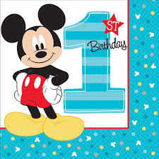 mickey mouse 1st birthday disney mickey mouse 1st birthday lunch napkins 16