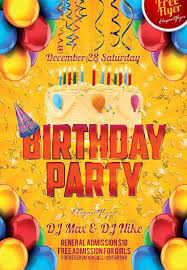 11 beautiful u0026 free birthday flyers templates utemplates